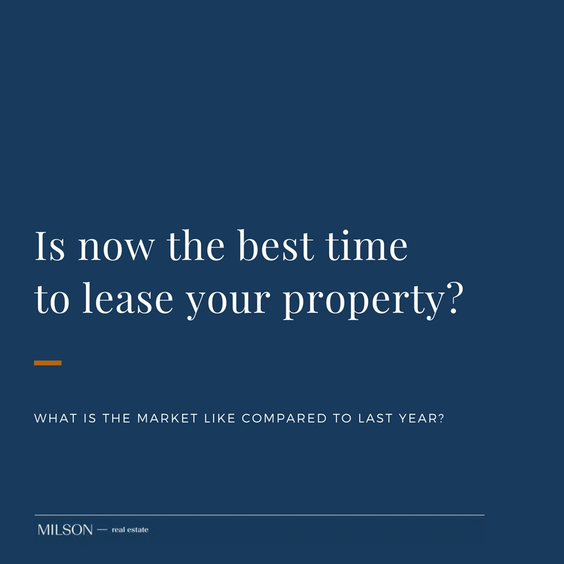 Is now the best time to lease your property?